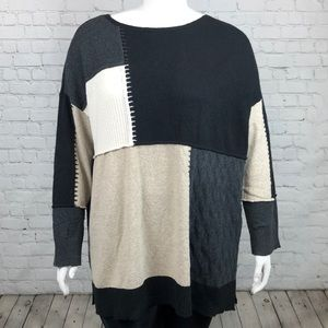 0X 2X 3X Style & Co Color Block Sweater Plus Size